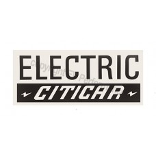 Electric CitiCar Decal